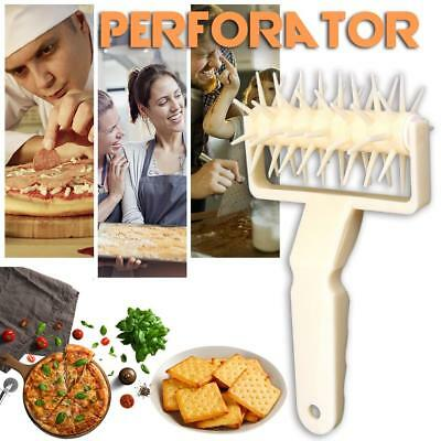 Food Grade Plastic Pizza Pastry Lattice Roller Cutter Perforator Baking Tools