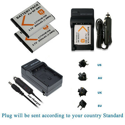 NP-BN1 Battery / Mains &car Charger Kits for SONY Cyber-shot Camera NPBN1 N TYPE