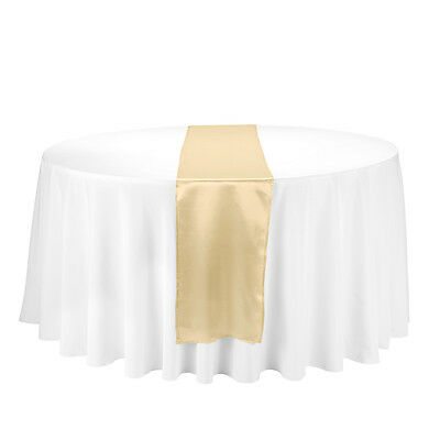 """20 pcs 12"""" x 108"""" Inch Satin Table Runner Wedding Party Banquet Decorations"""