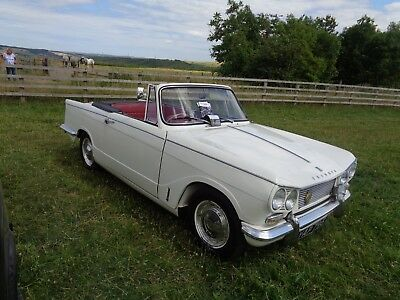 1963 Early Triumph Vitesse 6 1600 Convertible Spa White Red Interior 1 Owner