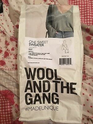 Wool And The Gang One Sweet Sweater Knitting Kit Eucalyptus Green - Brand New