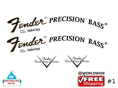 Fender Precision Bass Guitar Decal Headstock Waterslide Restoration #1