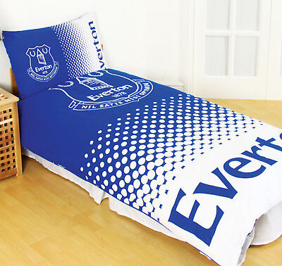 Everton FC Football Club Fade Single Duvet Quilt Cover Bedding Set Official