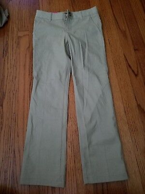French Toast Girls School Uniform Khaki Pants with Adjustable Waist Size 8 new