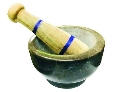 GENUINE HIMALAYAN  Large Marble Pestle and Mortar, 11 X 6 cm ,2.0 KG APPROX