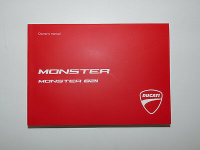 Manuale Uso E Manutenzione Owner's Manual Ducati Monster 821 Inglese