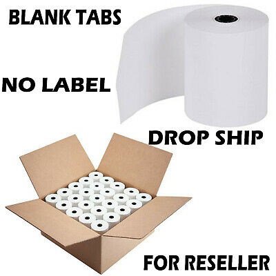 "3 1/8"" x 230' Thermal Receipt Paper POS Cash Register 50 Rolls Free Shipping"