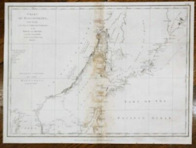 Perouse Map - CHART OF DISCOVERIES - CHINA & TARTARY -  Copper Engraving - 1798