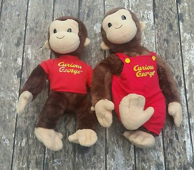 GUND Classic Curious George Plush Set Overalls and T Shirt Stuffed Animal Toy