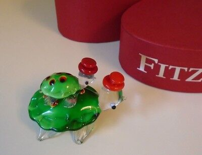 "Fitz & Floyd ""Marky & Mark"" Glass Menagerie Turtles Limited Edition New in Box"