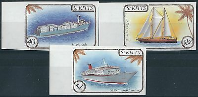 e187) St. Kitts. 1985. MNH. SG.173/74/76. Ships,Boats. Imperf.