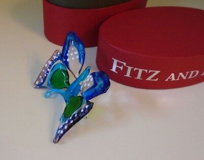 Fitz & Floyd Butterfly Glass Menagerie Figurine Limited Edition New in Box