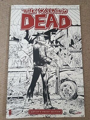 The Walking Dead Artist's Proof Edition Comic Book large A3