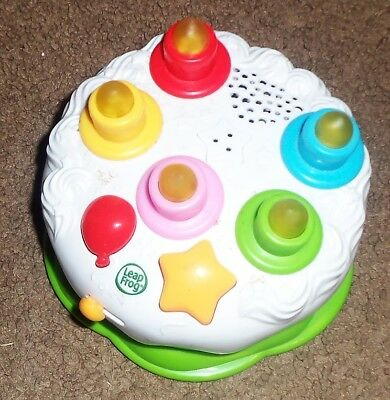 LEAP FROG Counting Candles Birthday Cake Light Up Musical Learning Singing Toy