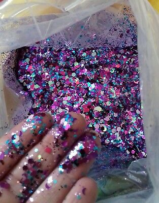 Chunky Glitter mixes with moons, 5g Bag, Face/Body,nails, Festival, clubbing