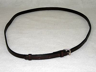 Leather Neck Jockey Grab Strap Havana or Black with stainless buckle Amish Made