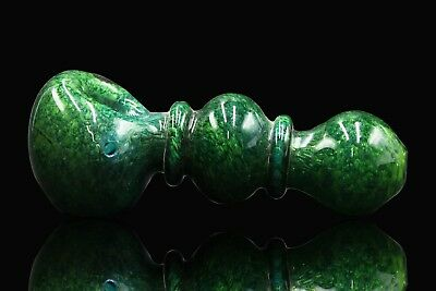 """5"""" Collectible Tobacco Smoking Pipe Herb Bowl Glass Hand pipes (Green)"""