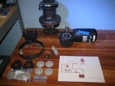 Harken 50 2-Speed Electric Self-Tailing Radial Winch Good Used Condition - 2 ...