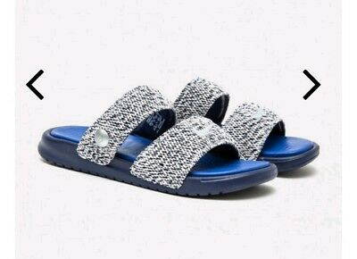 8dfdb056f2cb64 Nike Benassi Duo Ultra Mens Size 11 Slides Pigalle 902783 400 Royal Blue Sld