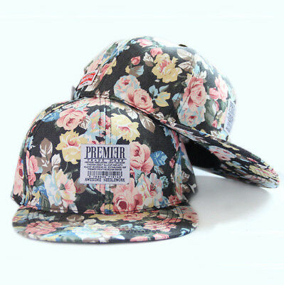 83f42447514 PREMIER NY BLACK Summer Cap High Quality Women Floral Baseball Snapback  Roses