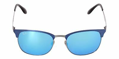 1cdc0c9fd5 NEW Ray Ban CLubmaster RB3538 189 55 53mm Blue Gunmetal Frame Blue Mirrored  Lens