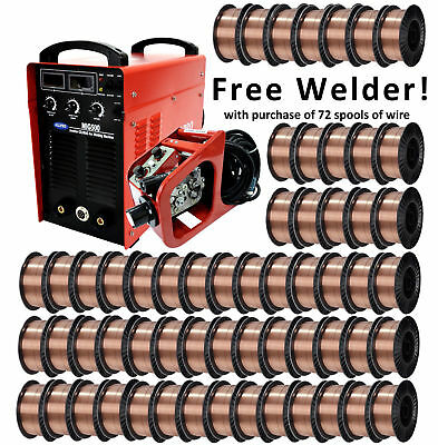 Solid Core MIG Welding Wire W/ FREE 350A WELDER 72 x 33lb ER70S-6 .035/.045""