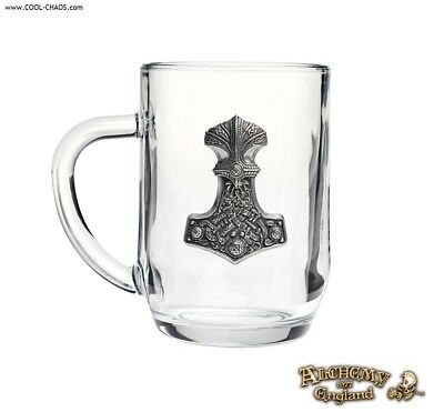 Pewter Thor Hammer Pint Glass Tankard Beer Mug from Alchemy Gothic 1977