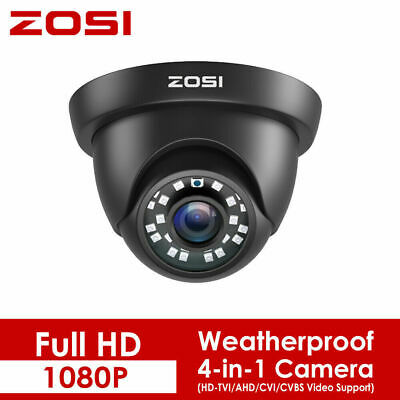 ZOSI HD 1080P 4in1 Outdoor CCTV Home Security Surveillance Camera 2.0MP IR Night