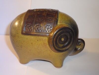 Modernist Mid-Century Pottery Elephant Bank