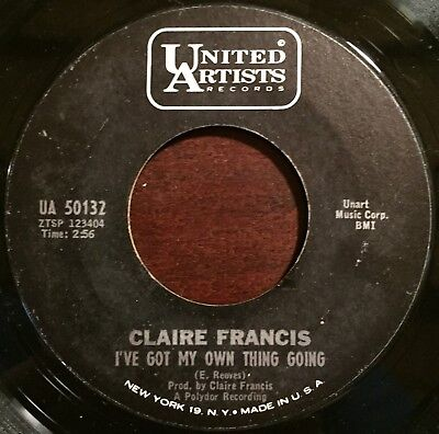 Claire Francis - I've Got My Own Thing Going~Rare Garage Mod 45~CLAPTON & PAGE!