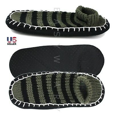 New Mens Cozy Knit House Floor Room Indoor Non-Skid Slippers Socks Size 8-12