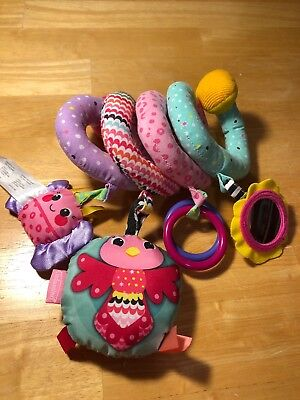 Infantino Baby Infant Spiral Activity Toy For Hanging Crib Car Seat Stroller