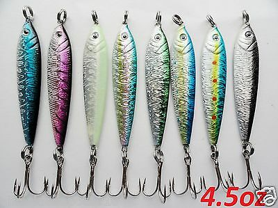 3 -16 Pieces 4.5oz Mega live bait metal jigs saltwater fishing lures