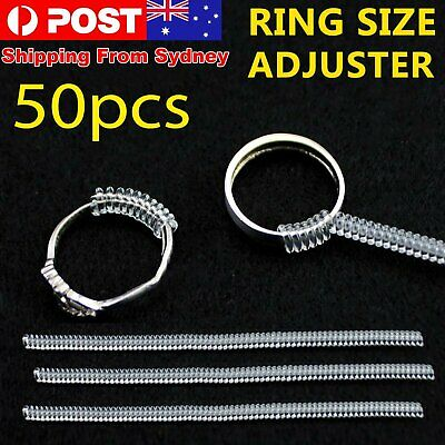 15pcs Ring Size Adjuster Reducer Resizing Guard Tightener Ring Spring Rope HOT E
