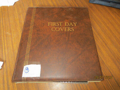 NO-4--FDC   ALBUM  --24  DOUBLE  SIDED  PAGES  --10 x AAT  &  19  OTHER  FDC'S