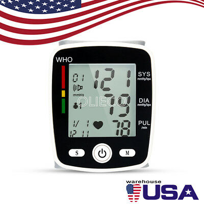 Digital LCD Wrist Blood Pressure Monitor Health Care Automatic Blood Pressure US
