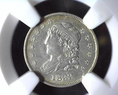 1833 Capped Bust Half Dime NGC AU Details Improperly Cleaned 2041820-054