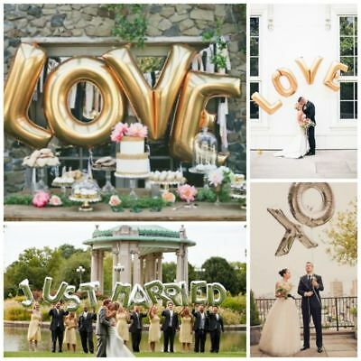 16'' 40'' Balloon Letter Alphabet Foil Wedding Birthday Party Gifts Decorations