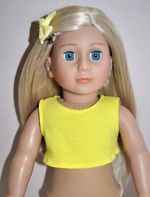 """American Girl Doll Our Generation Journey 18"""" Dolls Clothes Crop Tank Top Only"""