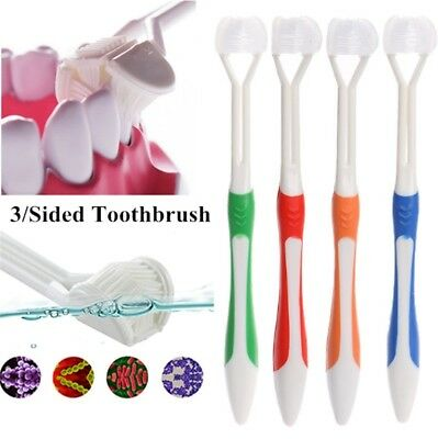 3 Sided Toothbrush Ultrafine Soft Bristle Adult Tooth Brush For Health Teeth
