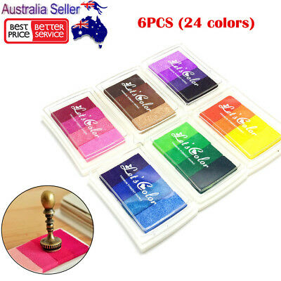 24 Colors Ink Pad Gradient Color Inkpad Stamp Oil Based Fingerprint Scrapbooking