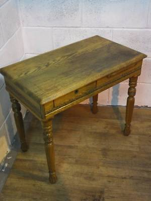 1930's LIGHT OAK LADIES / CHILDS CARVED WRITING DESK, With a DRAWER.