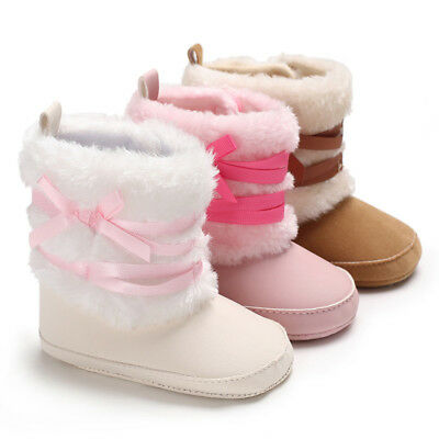 2018 Winter Fashion Girl Baby Warm Snow Boot Soft Sole Infant Gril Walking Shoes