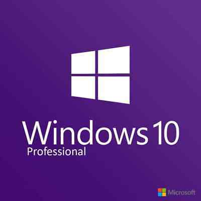 10 Licenza Microsoft Windows 10 Pro Professional 32 / 64 Bit Sticker   10 Pezzi