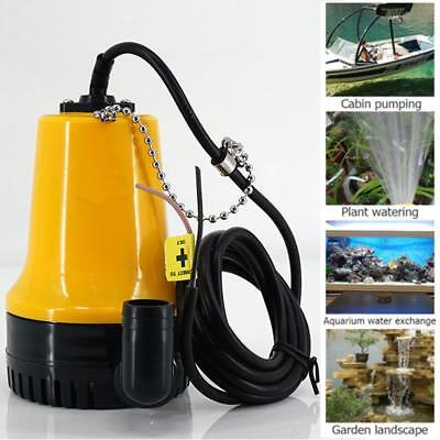 DC 12V Submersible Water Pump Clean Clear Dirty Pool Pond Flood 1620GPH Outdoor
