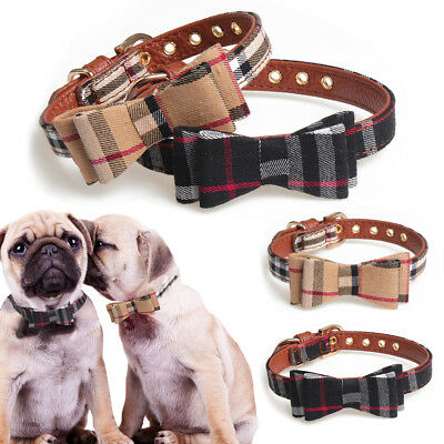 Adjustable Pet Dog Cat Collar Bow Tie Necklace With Bell Puppy Kitten Scarf Cute
