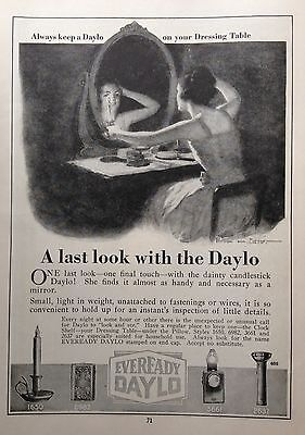 1919 Ad(G2)~Eveready Daylo Candlestick Light For The Dressing Table