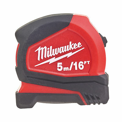 Milwaukee 4932459595 5m/16ft Pro Compact Tape Measure C5-16/25