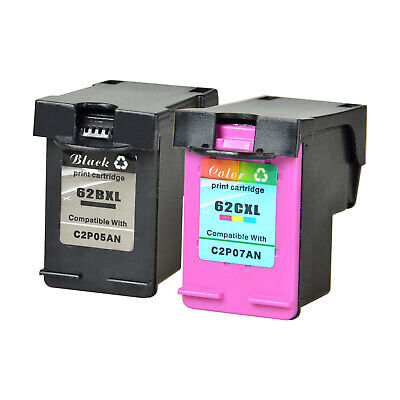 62XL 62 XL Ink Cartridge Compatible with HP ENVY 5640 7640 OfficeJet 5740 5745