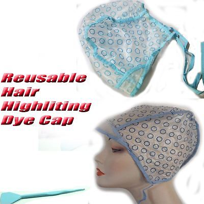 Professional Reusable Hair Colouring Highlighting Cap with Tipping Needle